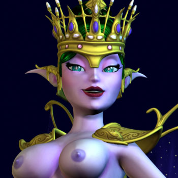 The Elf Queen in BoneCraft